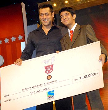 Salman Khan and Stayam Mahendra Khandekar