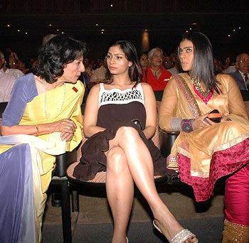 Tanuja, Tanisha and Kajol