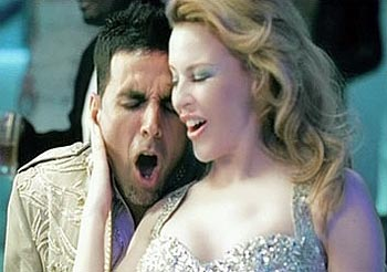 Akshay Kumar and Kylie Minogue