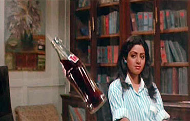 Sridevi in a scene from Mr India