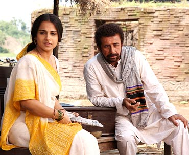 Vidya Balan and Nasseruddin Shah in a scene from Ishqiya