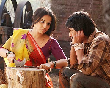 Vidya Balan and Arshad Warsi in a scene from Ishqiya