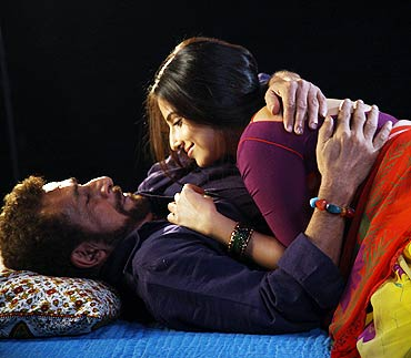 Nasseruddin Shah and Vidya Balan in a scene from Ishqiya