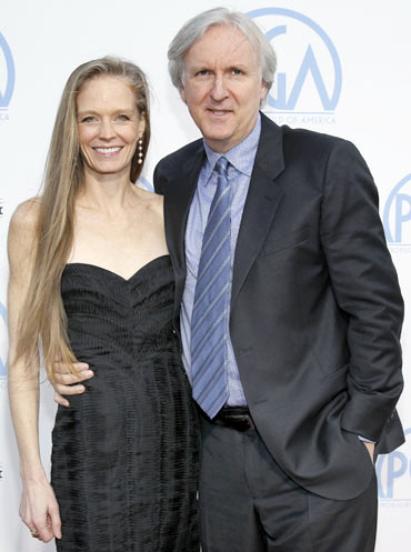 Suzy Amis and her husband James Cameron