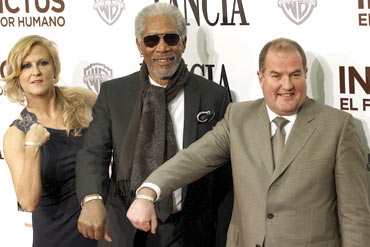 Lori McCreary, Morgan Freeman and Tim Massey