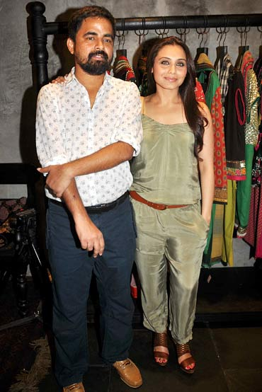 Sabyasachi Mukherjee and Rani Mukerji