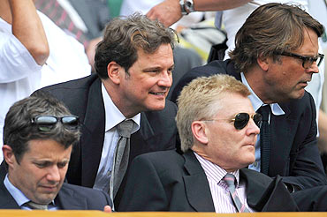 Colin Firth (second from left)