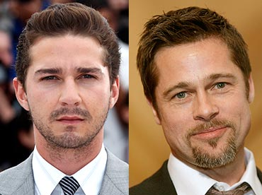 Shia LaBeouf and Brad Pitt