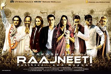 A poster of Raajneeti