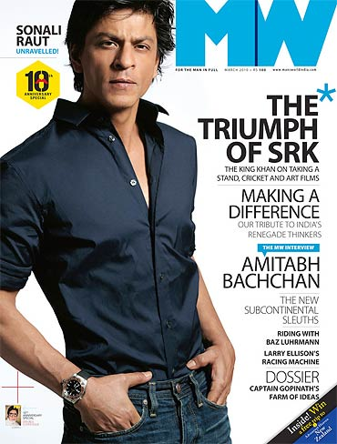 Shah Rukh Khan on the cover of Man's World