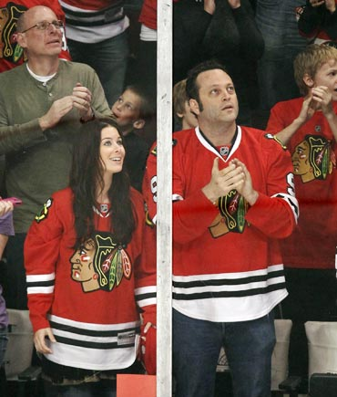 Wife Kyla Weber and Vince Vaughn