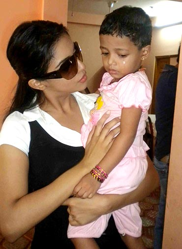 Asin at the orphnage in Sri Lanka