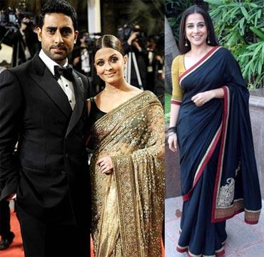 Abhishek Bachchan, Aishwarya Rai Bachchan and Vidya Balan
