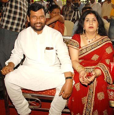 Ram Vilas Paswan and Reena Paswan