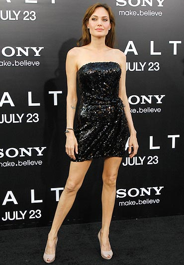 Angelina Jolie at the premiere of Salt in Hollywood
