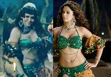 Stills from Sholay and Aap Kaa Suroor