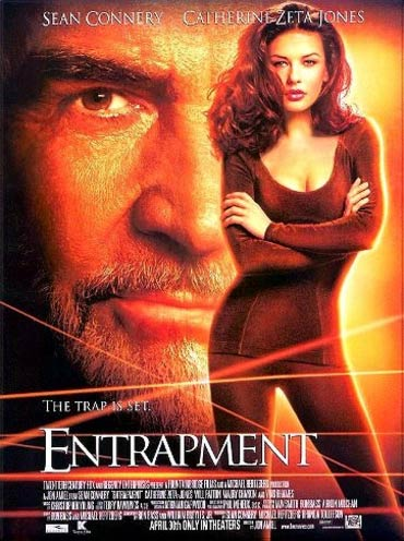 A poster of Entrapment