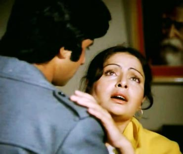 Amitabh Bachchan and Raakhee in Barsaat Ki Ek Raat