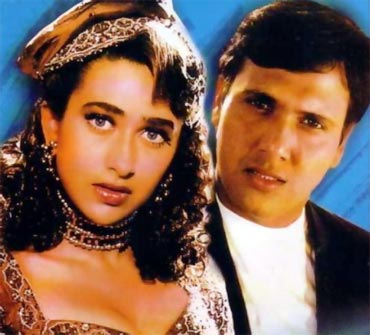 Karisma Kapoor and Govinda in Khuddar