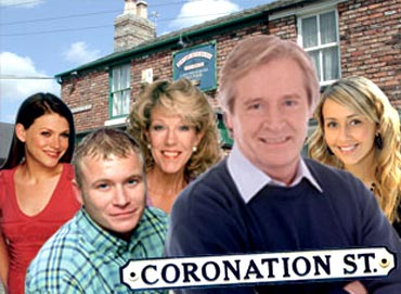 A scene from Coronation Street