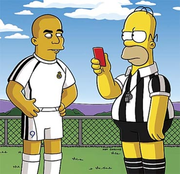 Ronaldo and Homer Simpson in The Simpsons