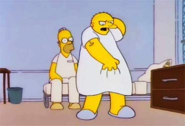 A scene from Simpsons