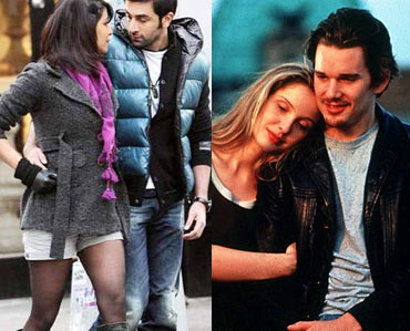 Scenes from Before Sunrise and Anjaana Anjaani