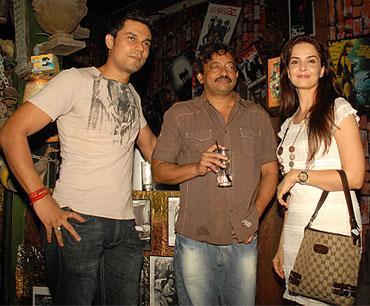 Randeep Hooda, Ram Gopal Varma and an unidentified guest