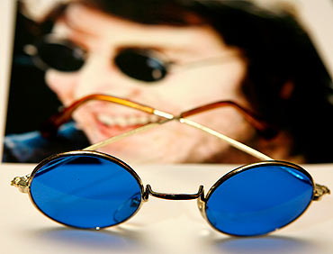 A pair of sunglasses worn by John Lennon can be seen as part of the Icons of Music collection