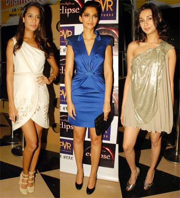 Lisa Haydon, Sonam Kapoor and Ira Dubey