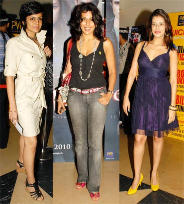 Mandira Bedi, Pooja Bedi and Payal Rohatgi
