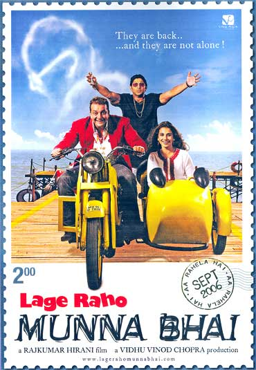 A poster of Lage Raho Munna Bhai