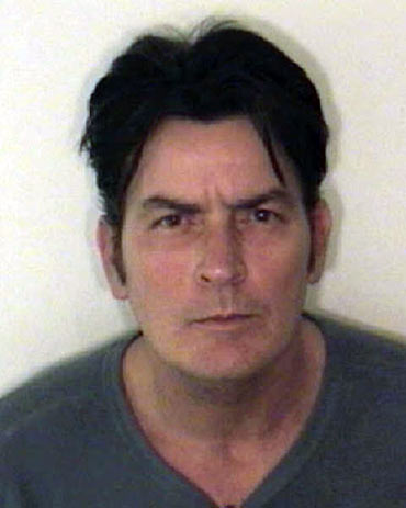 Charlie Sheen is pictured in this handout photo released by the Aspen Police Department on December 25, 2009