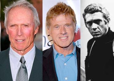 Clint Eastwood, Robert Redford, Steve McQueen