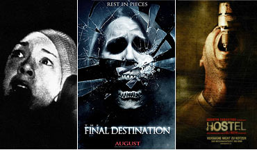 Scenes from The Blair Witch Project, Final Destination 3D and Hostel