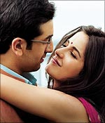 Ranbir Kapoor and Katrina Kaif in Raajneeti