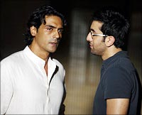 Arjun Rampal and Ranbir Kapoor in Raajneeti