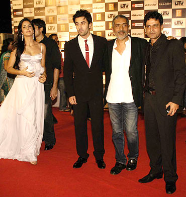 Katrina Kaif, Ranbir Kapoor, Prakash Jha and Manoj Bajpai