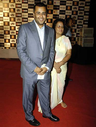 Chetan Bhagat and Rekha