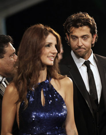 Sussanne Khan and husband Hrithik Roshan