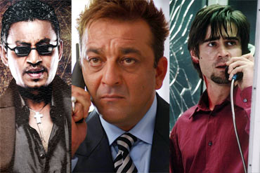 Irrfan Khan, Sanjay Dutt and Colin Farrell