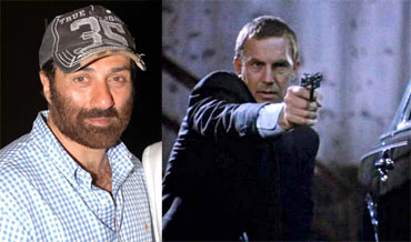 Sunny Deol and Kevin Costner