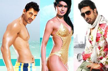 John Abraham, Priyanka Chopra and Abhishek Bachchan