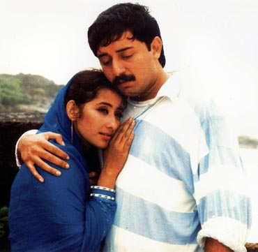 Arvind Swamy and Manisha Koirala in Bombay
