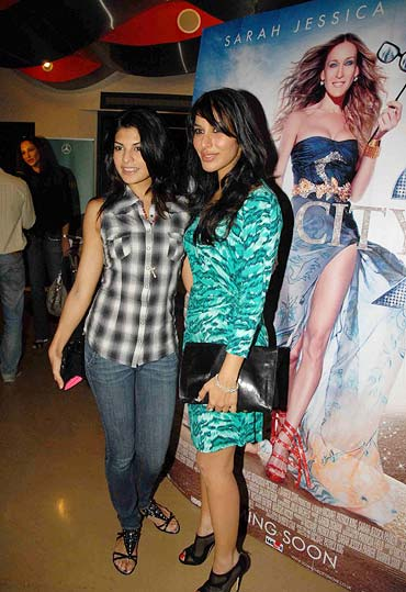 Jacqueline Fernandez and Sophie Chaudhary