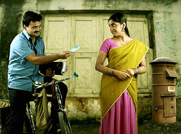 A scene from Oridathoru Postman