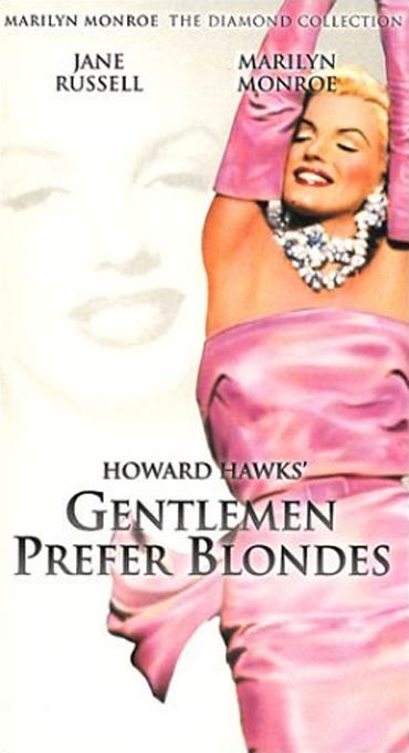 A poster of Gentlemen Prefer Blondes