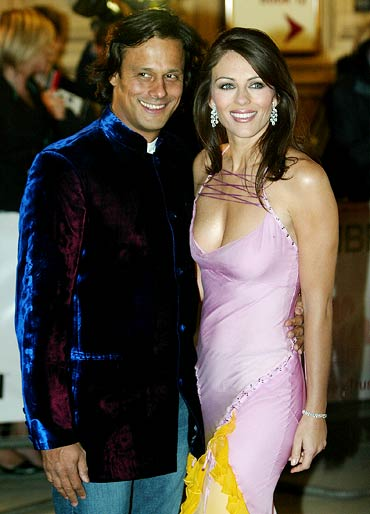 Arun Nayar and Elizabeth Hurley