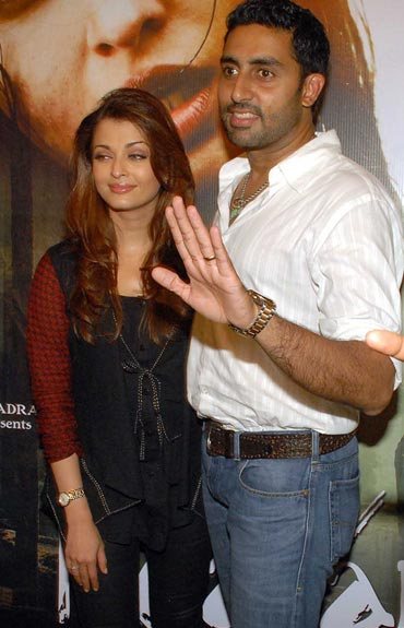 Aishwarya Rai and Abhishek Bachchan