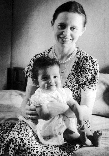 Leela Naidu with mother Marthe Naidu